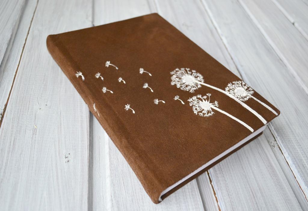 jurnal handmade piele papadii