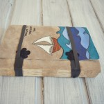 jurnal handmade piele - mare  valuri barca3